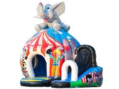 Castelo bouncy de disco de elefante