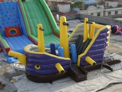 Pirate boat jumping castle combo