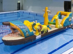 Pirate ship pool inflatable
