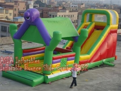 4 Em 1 Jungle Bounce House Slide Combo