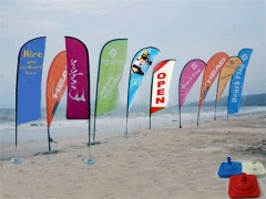 Publicidade pop-up flags stand