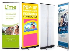 Banners pop-up stand