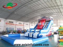 carro slide com piscina